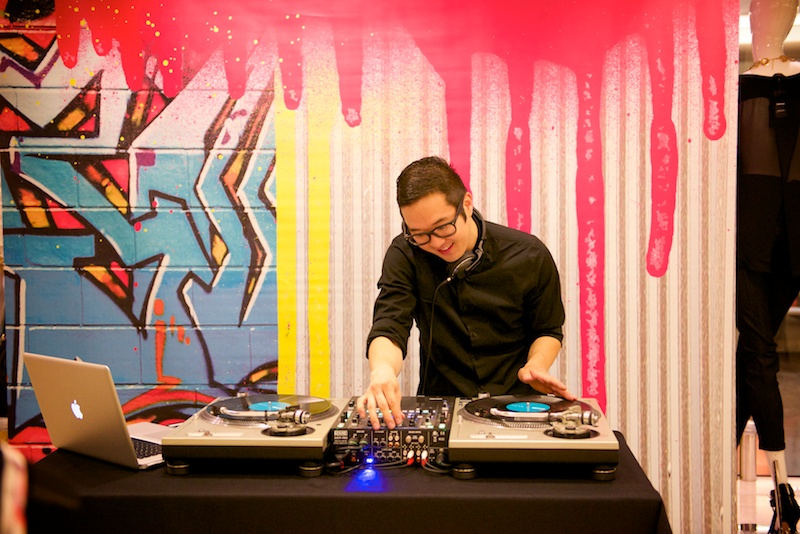 DJ at Girls Night Out   by Karina Louise Photography